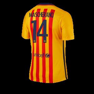 Camiseta de Barcelona 2015/2016 Segunda Numero 14 MASCHE Equipacion