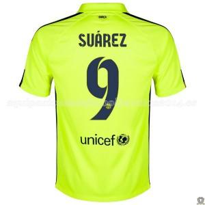 Camiseta nueva del Barcelona 2014/2015 Suarez Tercera