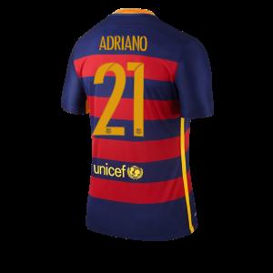 Camiseta nueva del Barcelona 2015/2016 Equipacion Numero 21 ADRIAN Primera