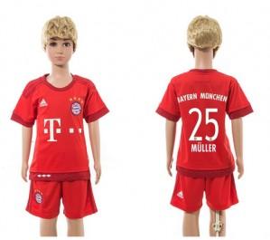 Niños Camiseta del 25 Bayern Munich Home 2015/2016
