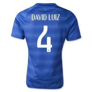 Camiseta de Brasil de la Seleccion WC2014 Segunda David Luiz