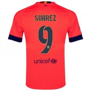 Camiseta nueva Barcelona SUAREZ Equipacion Segunda 2014/2015