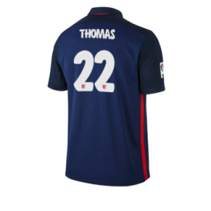 Camiseta Atletico Madrid THOMAS Segunda Equipacion 2015/2016