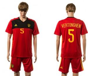 Camiseta nueva del Belgium 2015-2016 5#