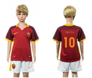 Camiseta nueva del AS Roma 2015/2016 10 Niños
