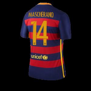 Camiseta nueva del Barcelona 2015/2016 Equipacion Numero 14 MASCHE Primera