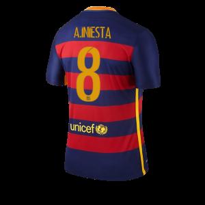 Camiseta del Numero 08 A. INI Barcelona Primera Equipacion 2015/2016