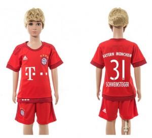 Camiseta nueva del Bayern Munich 2015/2016 31 Niños Home