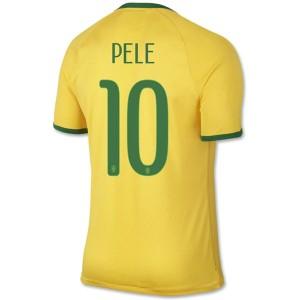 Camiseta de Brasil de la Seleccion WC2014 Primera Pele