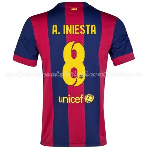 Camiseta nueva Barcelona A.Iniesta Primera 2014/2015