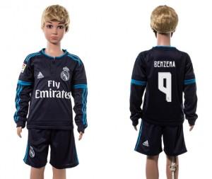 Camiseta nueva del Real Madrid 2015/2016 Manga Larga 9# Niños