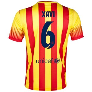 Camiseta nueva del Barcelona 2013/2014 Equipacion Xavi Segunda