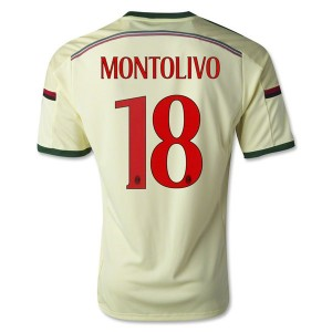 Camiseta nueva AC Milan Montolivo Equipacion Tercera 2014/2015