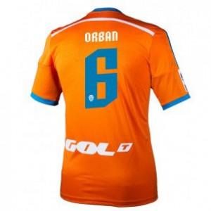 Camiseta de Valencia 2014/2015 Segunda Lucas Orban Equipacion