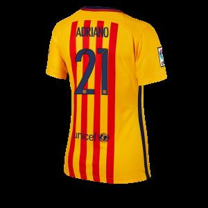 Camiseta Barcelona Numero 21 Segunda Equipacion 2015/2016 Mujer