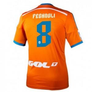 Camiseta del Sofiane Feghouli Valencia Segunda Equipacion 2014/2015