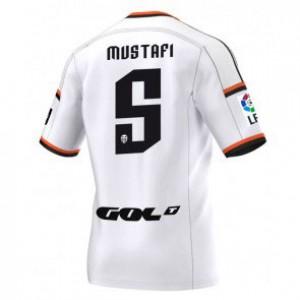 Camiseta Valencia Shkodran Mustafi Primera Equipacion 2014/2015