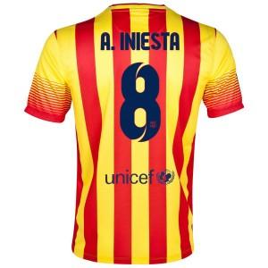 Camiseta nueva Barcelona A.Iniesta Segunda 2013/2014