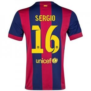 Camiseta del Sergio Barcelona Primera Equipacion 2014/2015