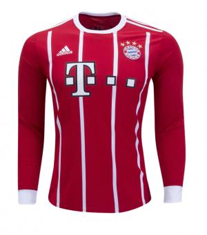 Camiseta nueva Bayern Munich Juventud Mangas largas 2017/2018