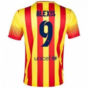 Camiseta nueva Barcelona Alexis Equipacion Segunda 2013/2014