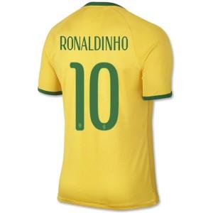 Camiseta nueva del Brasil de la Seleccion WC2014 Ronaldinho Primera