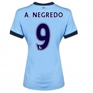 Camiseta de Manchester City 2013/2014 Tercera Dzeko