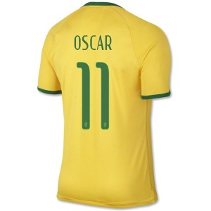 Camiseta nueva Brasil de la Seleccion Oscar Primera WC2014