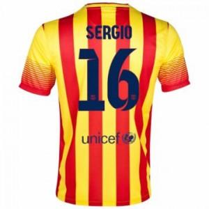 Camiseta de Barcelona 2013/2014 Segunda Sergio Equipacion