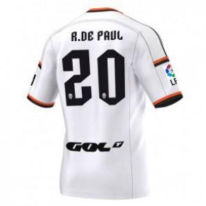 Camiseta del Rodrigo Paul Valencia Primera Equipacion 2014/2015