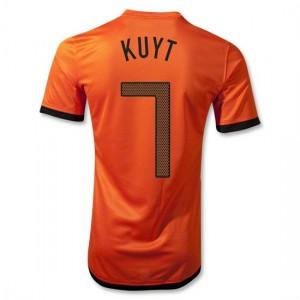 Camiseta nueva Holanda de la Seleccion Kuyt Primera 2012/2014