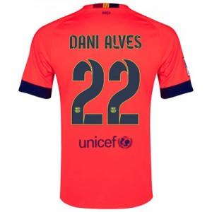 Camiseta nueva Barcelona Dani Alves Equipacion Segunda 2014/2015