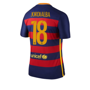 Camiseta nueva Barcelona Numero 18 JORDI Equipacion Primera 2015/2016