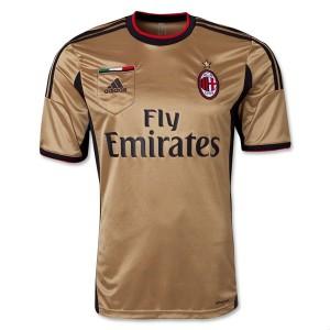 Camiseta nueva AC Milan Tailandia Tercera 2013/2014