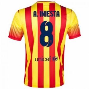 Camiseta nueva Barcelona A.iniesta Equipacion Segunda 2013/2014