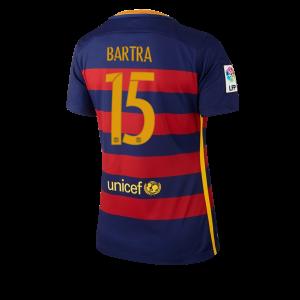 Camiseta nueva del Barcelona 2015/2016 Equipacion Numero 15 Mujer Primera