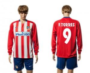 Camiseta del 9# Atletico Madrid Primera Manga Larga 15/16