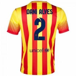 Camiseta de Barcelona 2013/2014 Segunda Dani Alves Equipacion