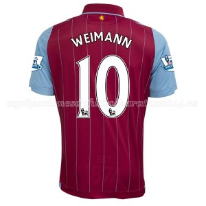 Camiseta Aston Villa Weimann Primera Equipacion 2014/15