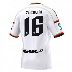 Camiseta del Bruno Zuculini Valencia Primera Equipacion 2014/2015