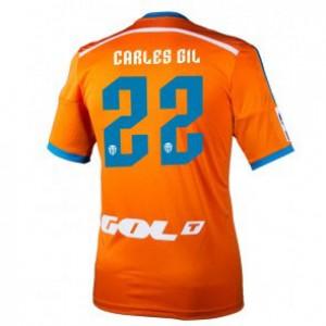 Camiseta nueva del Valencia 2014/2015 Equipacion Carles Gil Segunda
