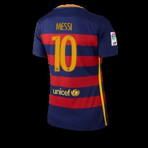Mujer Camiseta del Numero 10 Barcelona Primera Equipacion 2015/2016