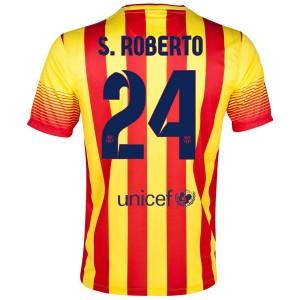 Camiseta nueva del Barcelona 2013/2014 S.Roberto Segunda