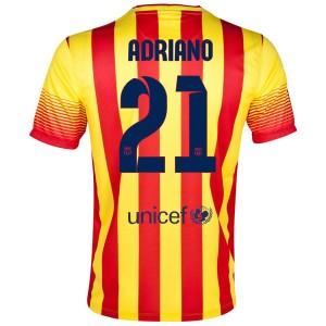 Camiseta Barcelona Adriano Segunda 2013/2014