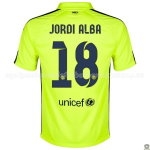 Camiseta nueva Barcelona Jordi Alba Tercera 2014/2015