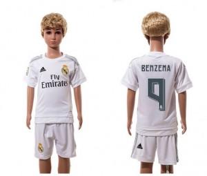 Camiseta nueva del Real Madrid 2015/2016 9 Niños Home