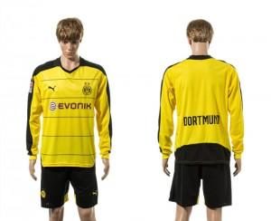 Camiseta nueva del Dortmund 15/16 Manga Larga Primera