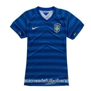 Camiseta Brasil de la Seleccion Segunda WC2014 Mujer