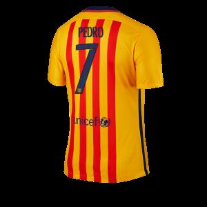 Camiseta nueva del Barcelona 2015/2016 Equipacion Numero 07 PEDRO Segunda