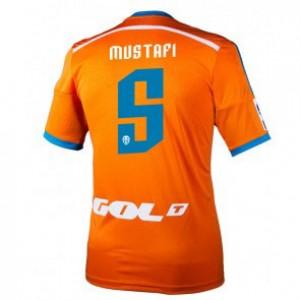 Camiseta nueva Valencia Shkodran Mustafi Equipacion Segunda 2014/2015